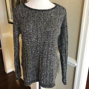Black and white Loft Sweater